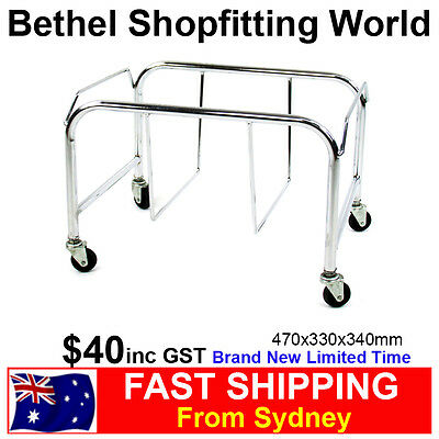 Chrome Shopping Hand Basket Holder For Fruit & Veg, Supermarket Store Brand NEW!