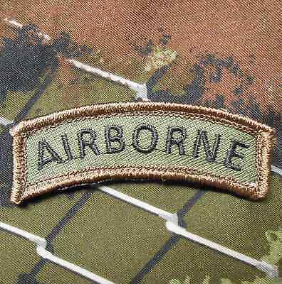 Airborne Tab Tactical Usa Army Morale Rocker Military Badge Forest Hook Patch