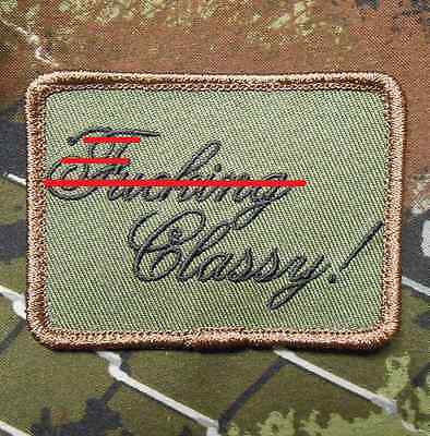 F*cking Effing Classy Us Army Morale Badge Forest Velcro® Brand Fastener Patch