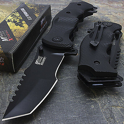 """9"""" MTECH USA TACTICAL TANTO SPRING ASSISTED TACTICAL FOLDING KNIFE Blade Pocket"""