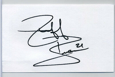 Jeff Brown signed autographed Auto 3x5 card hockey