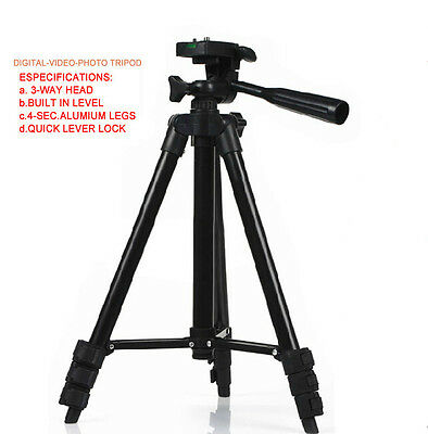 Digital SLR Camera Camcorder Video Portable Tripod For Canon Nikon Sony Olympus