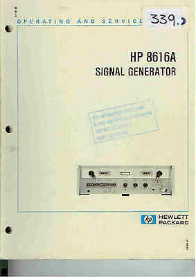 HP/Agilent 8616A Signal Generator Operation & Service Manual Loc: 339