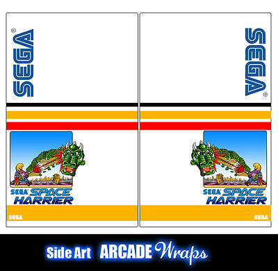 Space Harrier Arcade Side Artwork Panel Stickers Graphics / Laminated All Sizes