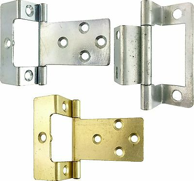Flush Hinge Single & Double Cranked - Cupboards Caravans & Boats Price Per Hinge