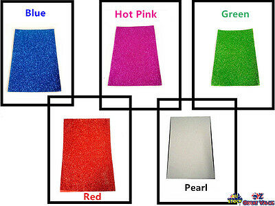 Color Glitter Foam Sheet Pearl Blue Green Red Pink DIY Art Craft School Project
