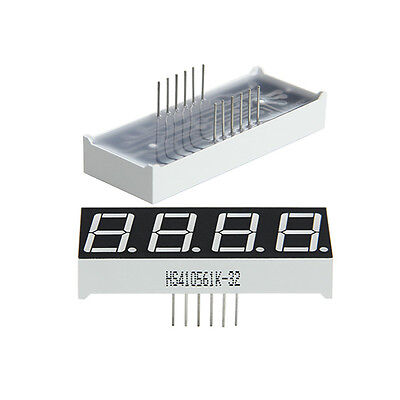 """2pcs 0.56"""" 7 Segment 4 Digit common anode RED LED digital display for Arduino"""