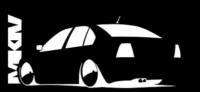 Vw Volkswagen Mk4 Jetta Sign Vinyl Sticker Decal Gti Jetta Bora Beetle #006