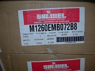"""1/2"""" X 7200 Feet, Samuel Poly Strapping Systems M1260Emb072B8"""