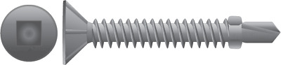 10-16 x 40mm x 1000 SQUARE Galv Winged Self Drilling Screws Metal/Timber Decking