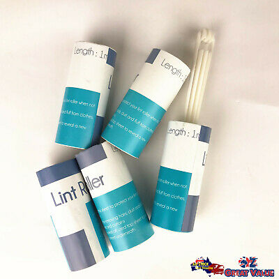 Lint Roller with 5 Adhesive Sticky Refill Rolls 10cm x 1.3M Homeware KD12253
