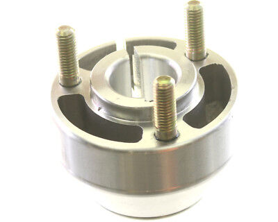 25mm Kart Short Silver Single Bolt Rear Hub with Studs