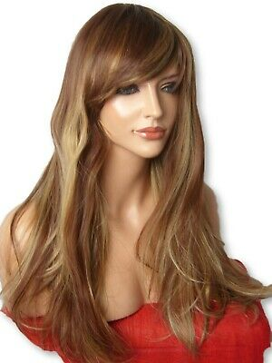 Brown Blonde WIG Women Fashion Wig Long Curly Natural Ladies Hair Wig  C21