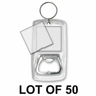 Bottle Opener Blank Photo Key Chain Clear Acrylic Case LOT OF 50 #BOA-Blank-50#