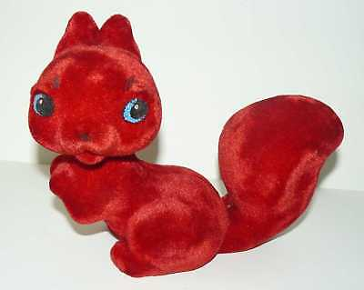 1970s Estonian Vintage Polymer Toy  Red Young Squirrel
