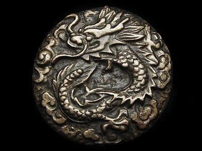 MG11148 *NOS* VINTAGE 1970s **CHINESE DRAGON** SOLID BRASS BELT BUCKLE