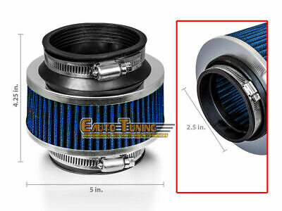 "2.5/"" Inches 63mm Inlet BLUE Universal ByPass Valve Filter For Air Intake Kit"
