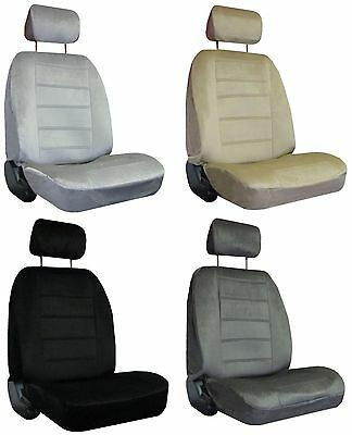 Marvelous Quilted Encore Velour 2 Grey Gray High Back Bucket Car Truck Machost Co Dining Chair Design Ideas Machostcouk