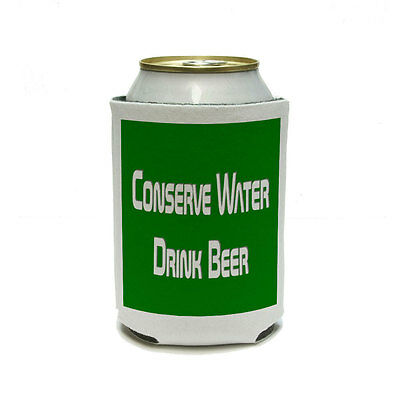 Conserve Water Drink Beer Can Cooler Drink Insulator Beverage Insulated Holder