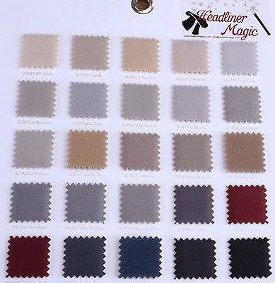 "Auto Headliner Upholstery Fabric Material 120"" x 60"" Any Color From the Chart"