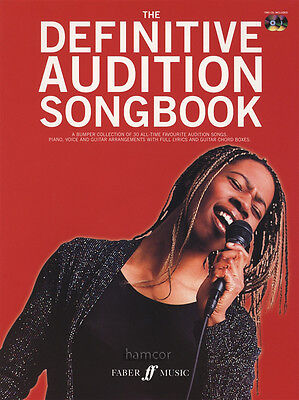 The Definitive Audition Songbook Piano Vocal Guitar Music Book/2CDs