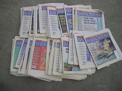 Lot of 40 Barrons Magazine Newspaper Standard 2012 Politics Business Investments