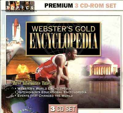 Webster's World & Hutchinson Encyclopaedia Gold & Events That Changed The World