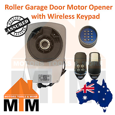 Automatic Roller Garage Door Motor Opener with Wireless Keypad and 2 x Remotes