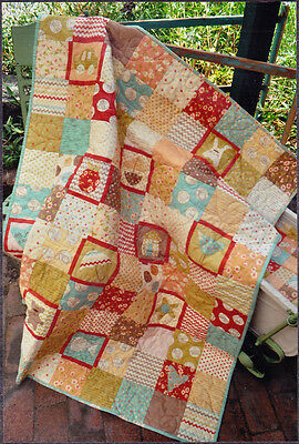 Tiny Treasures - pieced & applique quilt PATTERN - Hatched & Patched