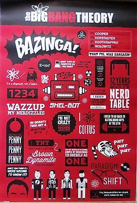 The Big Bang Theory-Quotes-Licensed POSTER-90cm x 60cm-Brand New