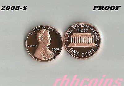 2008-S Proof Lincoln Memorial Cent Penny - All Proofs On Sale