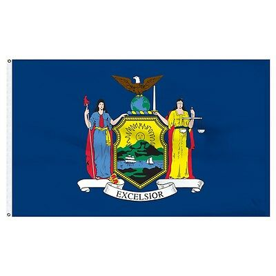 3x5 State of New York Flag 3'x5' Banner Super Polyester fade resistant outdoor