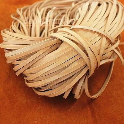 Superior Calf Lace Natural ,Genuine Leather Cord, Leather Lace 5*2mm