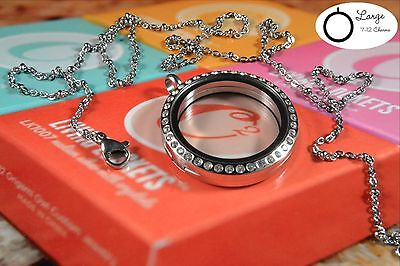 """ORIGAMI OWL Locket Crystals Silver BALL STATION Chain CHARM IT! 20-22"""""""