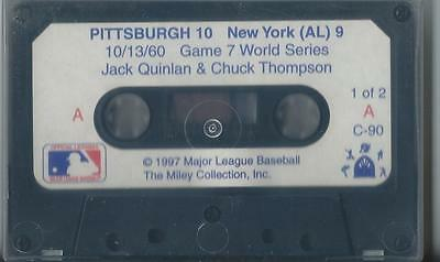 PITTSBURGH PIRATES VS NY YANKEES 1960 WS GAME 6 AUDIO CASSETTE MILEY COLLECTION