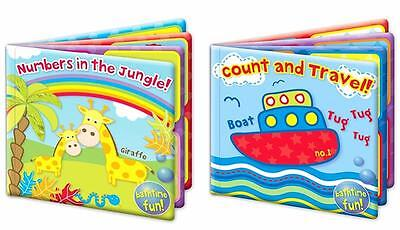 New Baby Bath Book Plastic Coated Fun Educational Toys Children Toddler Numbers