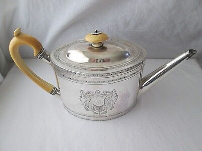 George III Silver Teapot. Alexander Field. London 1793.