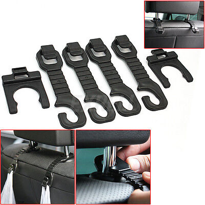 4x Practical Car Truck Interior Accessories Seat Hook with 2Pcs Bottle Hanger