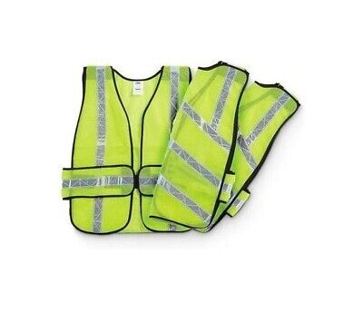 Ironwear Lime Reflective Safety Vest 1 Piece 7015-L One Size Fits All