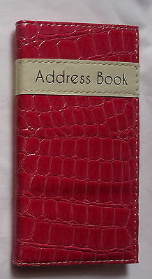 Pebble Slim Quality Address Book Vibrant Colours Design Cover Handy