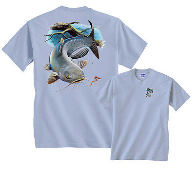 Channel Catfish T-Shirt Worm Profile