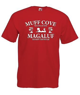 f284b0ce MAGALUF MUFF DIVER funny hen stag party holiday tee New Mens Womens T SHIRT  TOP