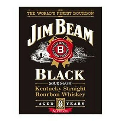 Sign - Jim Beam Black Label Wall Art Home Decor Picture Gift
