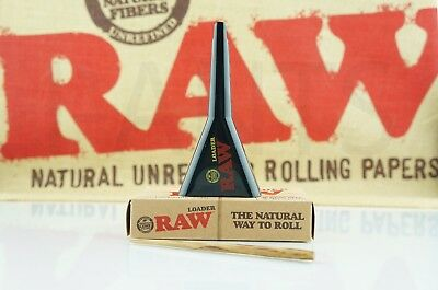 Authentic Raw Rolling Paper Cone Loader Work With King Size / 98 Special