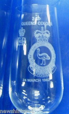 #Aa. Five  1982  Raaf Royal Australian Airforce  Wine Glasses