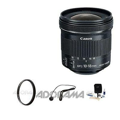 Canon EF-S 10-18mm f/4.5-5.6 IS STM Lens With Basic Accessories #9519B002 A
