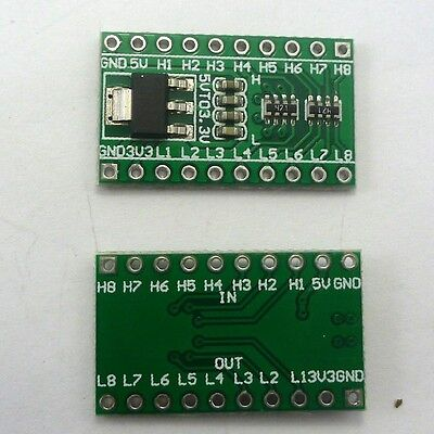 2P 8Ch 3.3V 5V Converter & AMS1117 DC Board for Arduino IIC I2C UART Logic Level