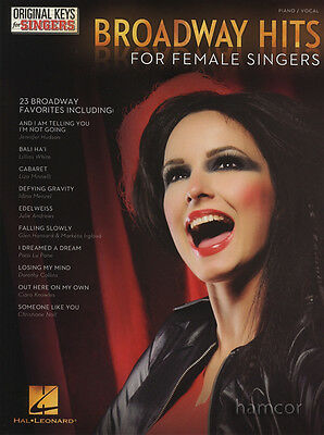Broadways Hits for Female Singers Piano Vocal Sheet Music Book