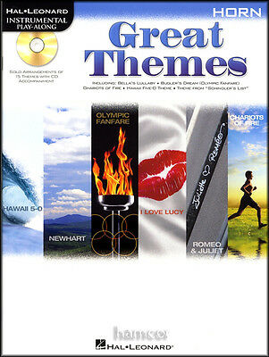 Great Themes F French Horn Instrumental Playalong Music Book & CD TV Movie Film