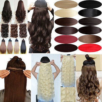 Xmas Sale Clip In Hair Extensions Half Full Head 5Clips 125g Real Natural Hair